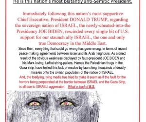 This Nation's Most Blatantly Anti-Semitic President