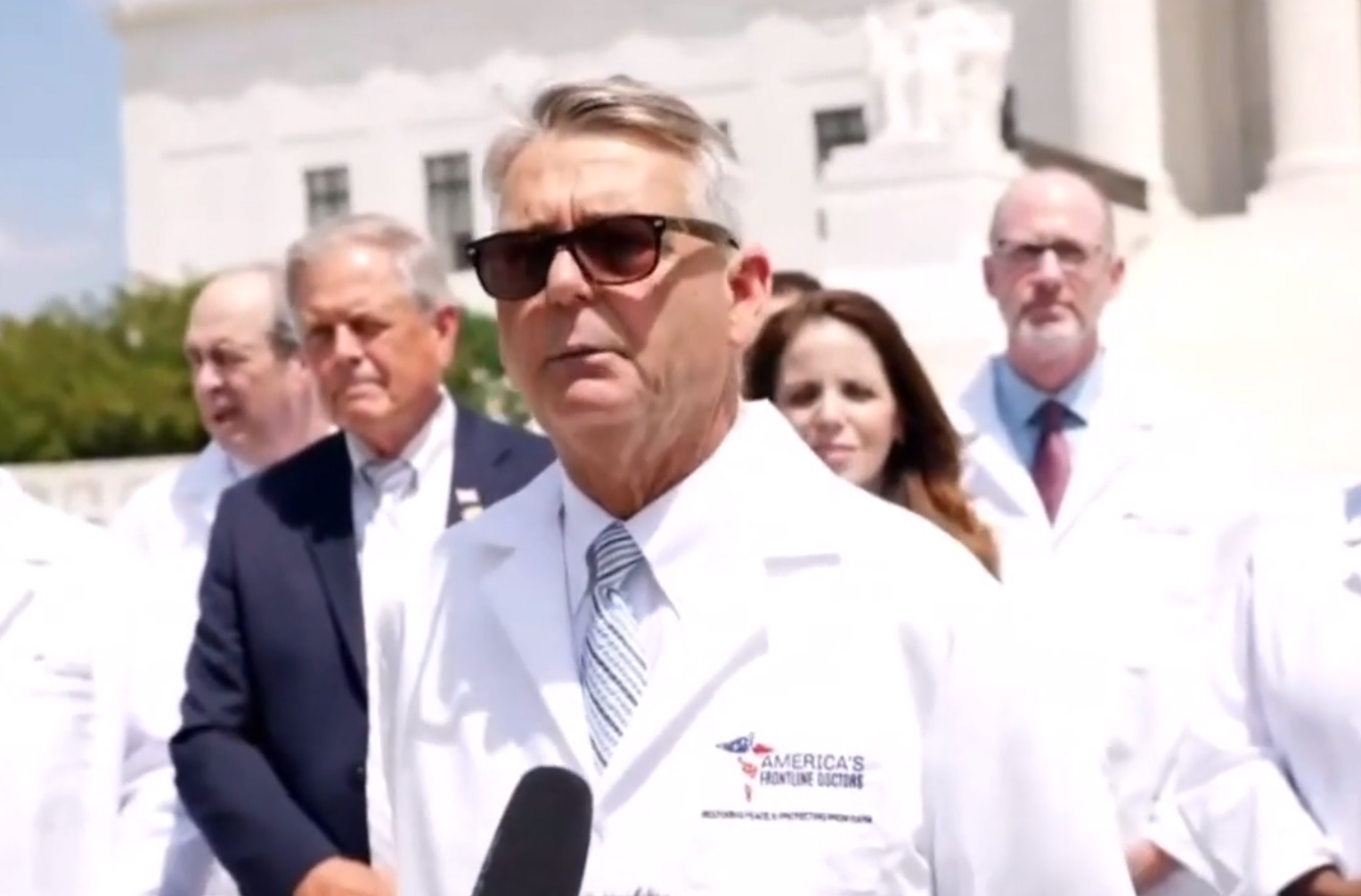 "Group of ""America's Frontline Doctors,"" Hold Press Conference at Capitol Hill"