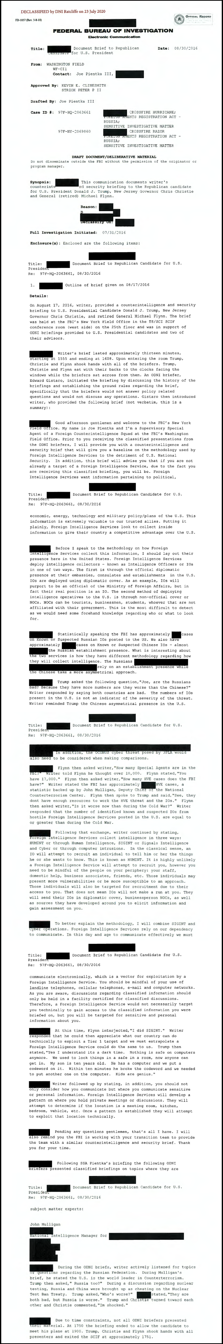Newly Declassified FBI Document