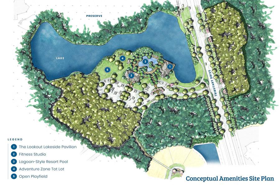 Conceptual Amenities Site Plan