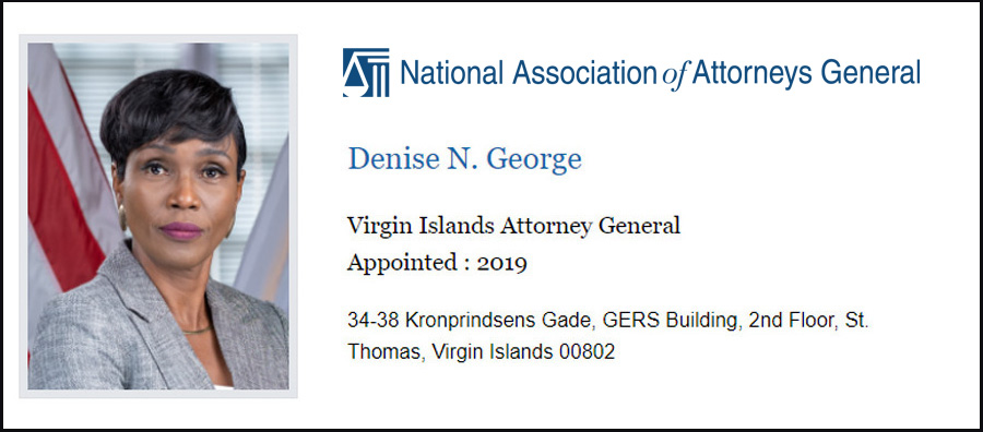 Denise George Attorney General for the US Virgin Islands