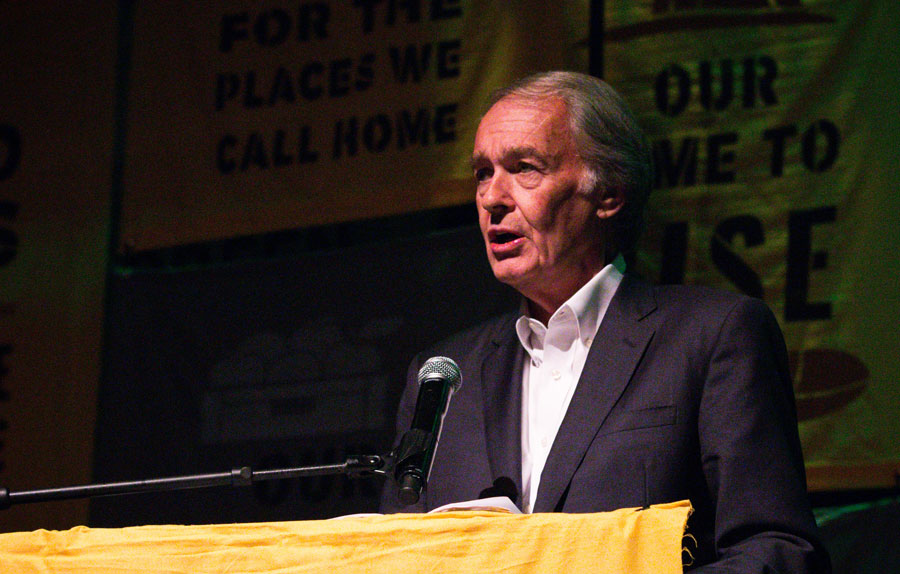 Senator Edward J. Markey (D-Mass.)  speaking about the importance of a Green New Deal at a town hall organized by the Sunrise Movement. Washington, D.C. - May 13, 2019: Photo credit: Rachael Warriner / Shutterstock.com, licensed.