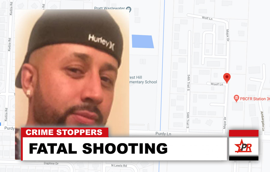 Detectives from the Violent Crimes Division are investigating the shooting homicide of Cristobal Mena, 38, of West Palm Beach. Crime Stoppers is offering a reward of up to $3,000 for information leading to an arrest. No motive is known at this time.
