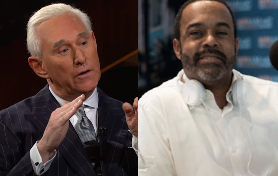 phone interview between national radio host Mo Kelly and widely known political consultant Roger Stone