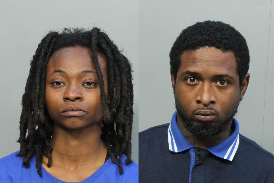 Latravia Charm Bell, 20 of Miami, FL was charged with Murder 1st Degree; Murder 1st Degree W/Deadly Weapon; Firearm/Weap/Ammo/Posn/Conv. Felon/Deliq/Gang. Nathaniel Bernard Roberson, 31, also of Miami, FL was charged with, Murder 1st Degree; Murder 1st Degree W/Deadly Weapon/Attempt