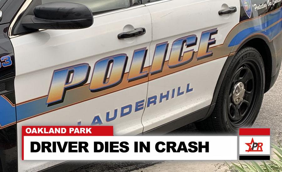 DRIVER DIES IN CRASH