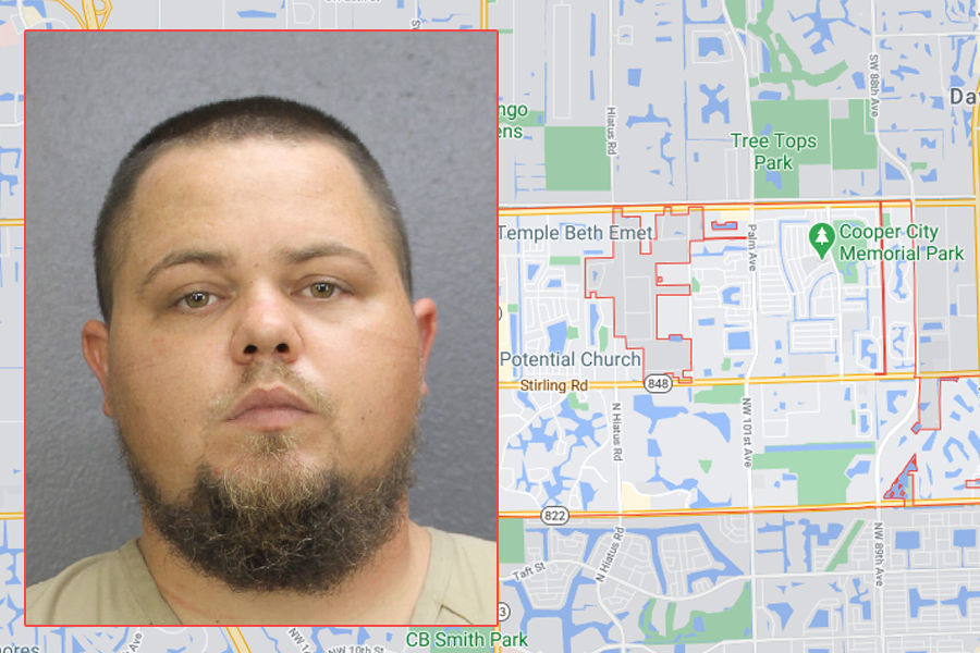 Daniel Chamblin, 32, was charged with vehicular homicide, reckless driving causing serious bodily injury, four counts of reckless driving damage person or property, unlawful speeding, and a speed limit law infraction of 'third violation' with a note of that speed being more than 50 mph over the speed limit. He was offered no bond and remains in custody at Broward's Main Jail.