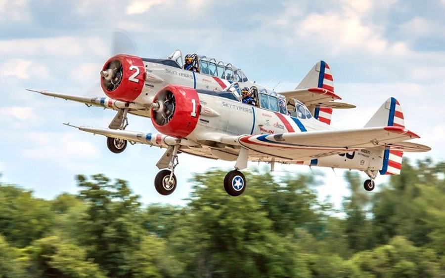 The GEICO Skytypers Air Show Team, the leading vintage airshow performance squadron, will be performing at the Stuart Air Show on Saturday and Sunday, November 7-8 at Witham Field, 2011 SE Airport Rd, Stuart, FL.