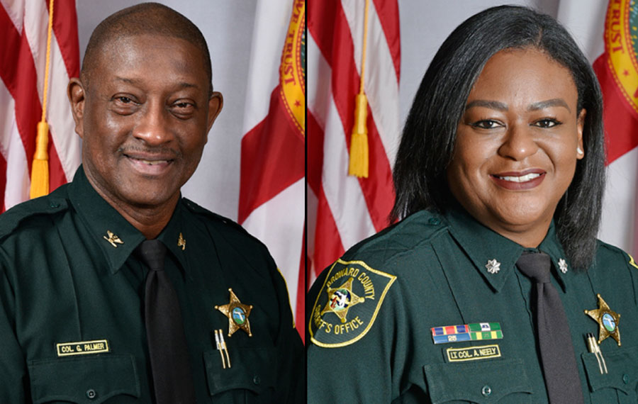 Department of Detention Colonel Gary Palmer and Department of Detention Lieutenant Colonel Angela Neely.