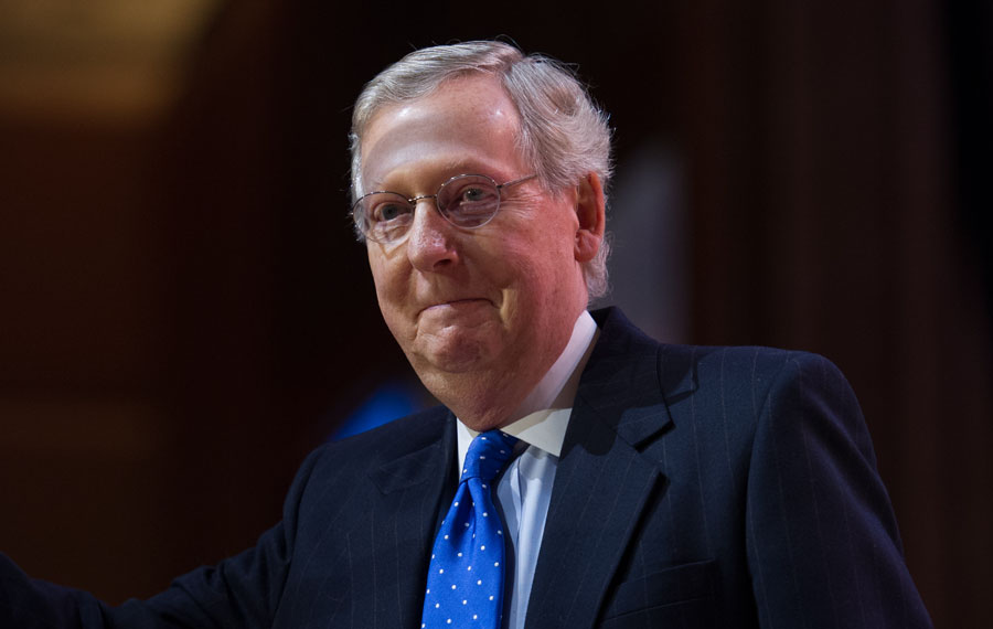 Senate Majority Leader Mitch McConnell said Judge Amy Coney Barrett has enough support to win Senate confirmation to the Supreme Court and he expects to bring her nomination to the floor on Oct. 23. Editorial credit: Christopher Halloran / Shutterstock.com, licensed.
