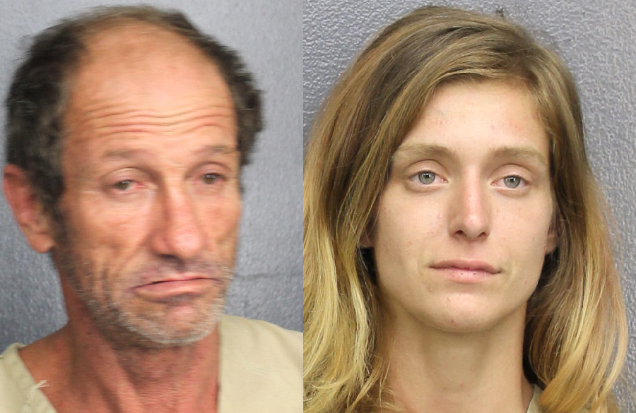The two suspects, Bobby Clyde Bean, 52, and Chloe Jamison, 24, bailed out of a vehicle  and were apprehended by the Broward's Sheriff's Office's K9 unit when they were found hiding in the backyard of a home. Bean and Jamison were taken into custody without incident.