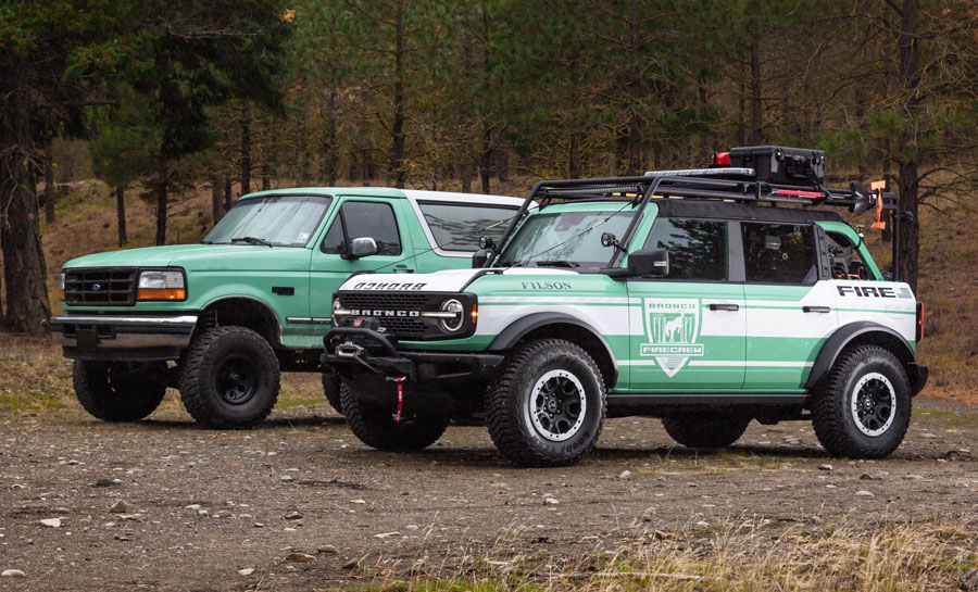 Bronco, Filson to Support Forest Firefighters, National Forest Foundation; Reveal Bronco + Filson Wildland Fire Rig Concept