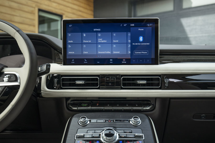 The 2021 Nautilus brings the new SYNC® 4 system on a 13.2-inch screen to the Lincoln portfolio. (Don't drive while distracted or while using handheld devices. Use voice-operated systems when possible. Some features may be locked out while the vehicle is in gear. Not all features are compatible with all phones.)