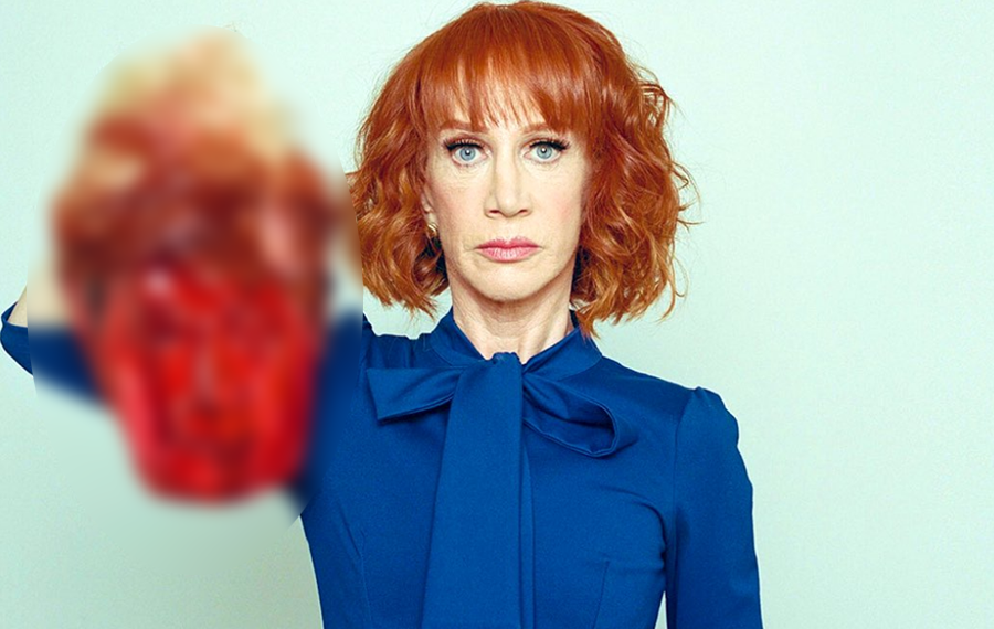 Shortly after Trump's 2 am press conference November 4, Griffin, 60, retweeted the infamous photo of her wearing a blue blouse while holding the president's severed head in effigy.