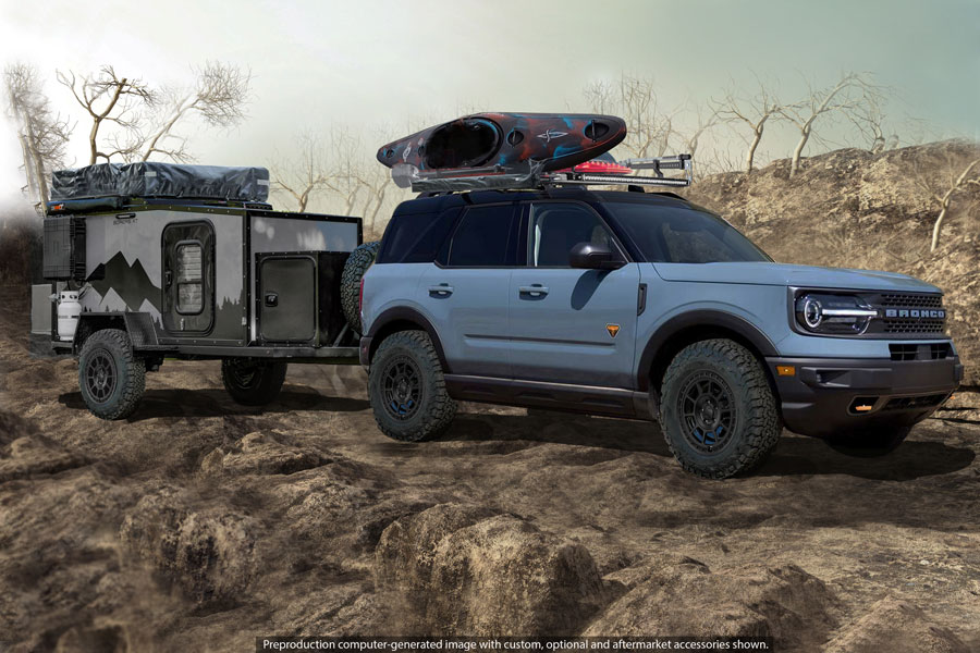 Ford is revealing custom versions of the 2021 F-150, Bronco and Bronco Sport with Ford Accessories and Performance Parts through the first-ever virtual SEMA show; local Ford dealers are ready to personalize these vehicles for customers