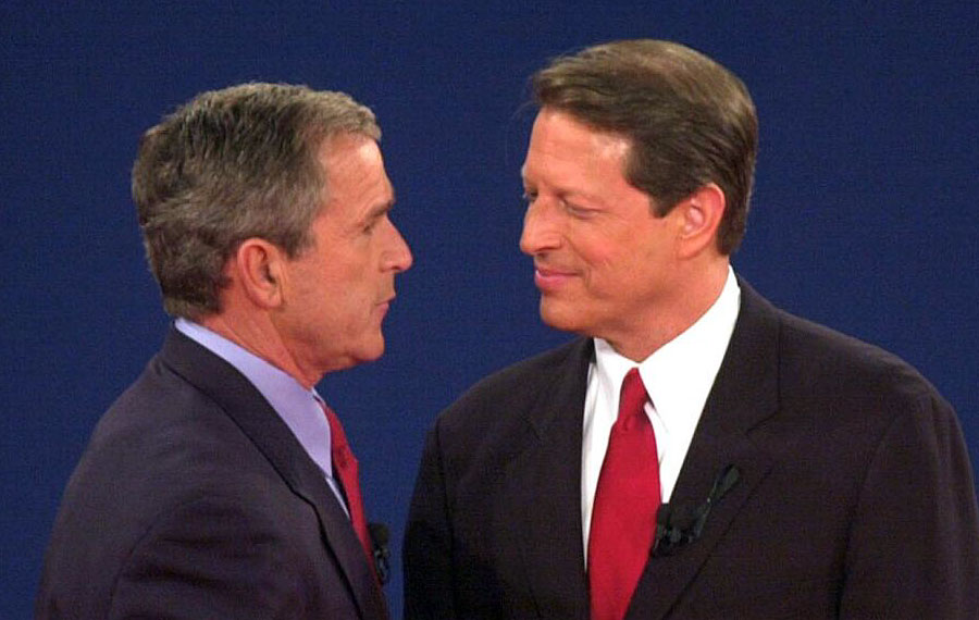 In 2000, Governor George W. Bush delayed acknowledging the election results until it was official, all the votes in Florida were counted, and only after the U.S. Supreme Court put a stop to the Florida court's ordered recount. Photo credit: CNN.