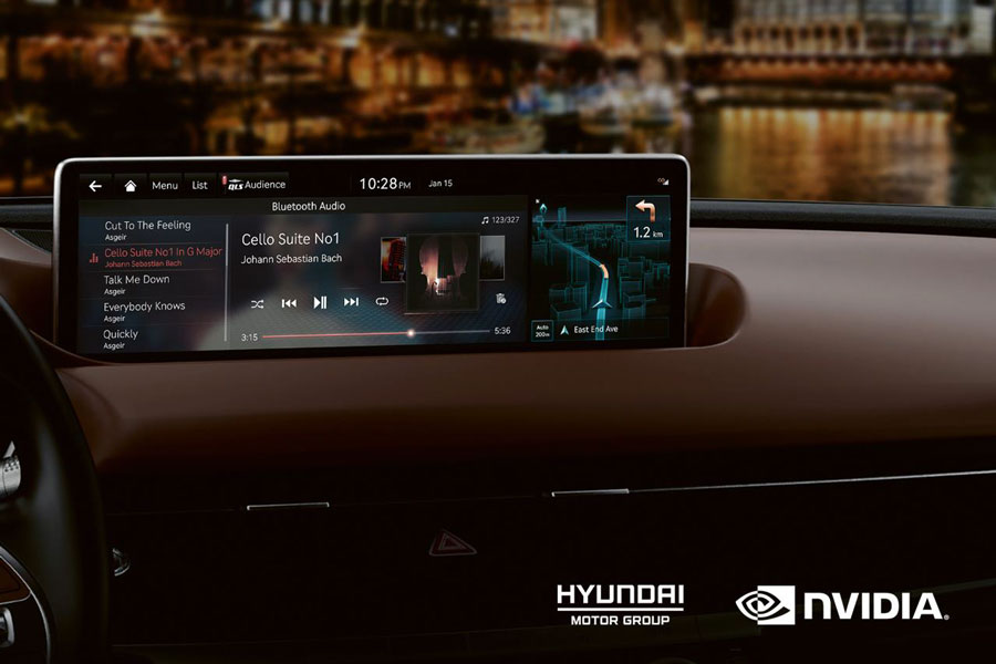 Hyundai Motor to use Nvidia's infotainment system in all vehicles from 2022