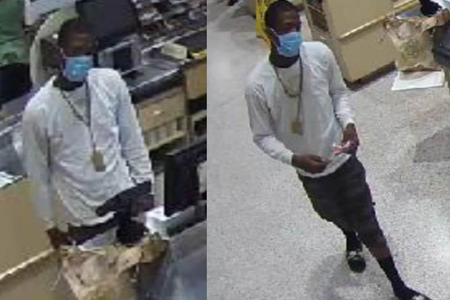 According to detectives the identity of the male shown in the recently released surveillance photos is wanted. This latest incident occurred on Wednesday, November 4, 2020. No other information was made available at this time.