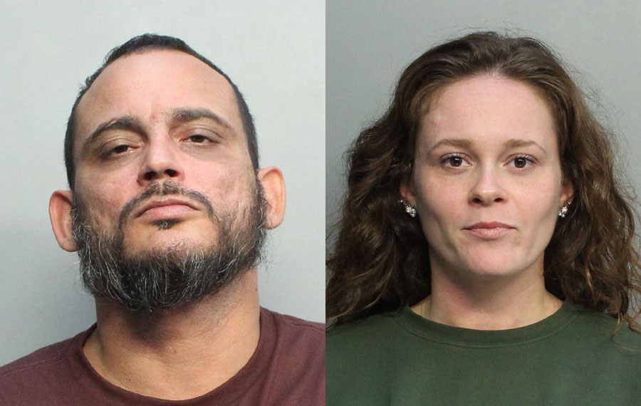 Ricardo Rene Schaeffler Jr., 40, and Nicole Jeanene Iglesias, 33, both of Miami, were charged with grand theft of motor vehicle parts in the third degree, a felony. They were arrested together at the Exxon gas station at 8701 Coral Way Miami on November 14, 2020.