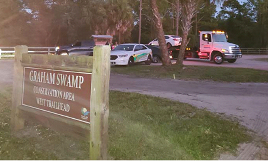 The operation at Graham Swamp on Tuesday. Photo: Flagler County Sheriff's Office.