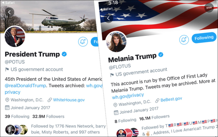 Both Twitter and Facebook have announced that official government accounts will be automatically transferred from current President Donald Trump to President-Elect Joe Biden at the very moment that Biden is sworn in on Inauguration Day.