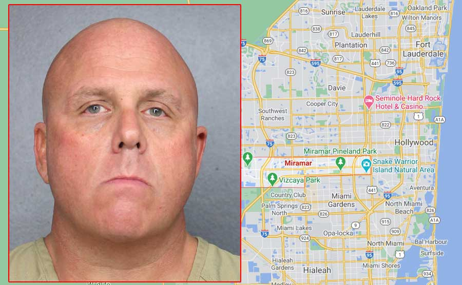 William Dean, 50, of North Miami Beach, was charged in violation of Florida Statute 836.05Threats; extortion. Defamation; libel; threatening letters and similar. A felony of the second degree. According to Country Records, Dean is being held pending a bond hearing.