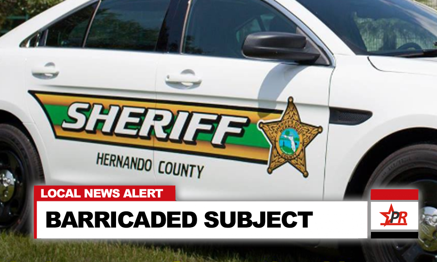 Upon arrival on scene, deputies attempted to take the male into custody, at which time he fled back into the residence; barricading himself inside.