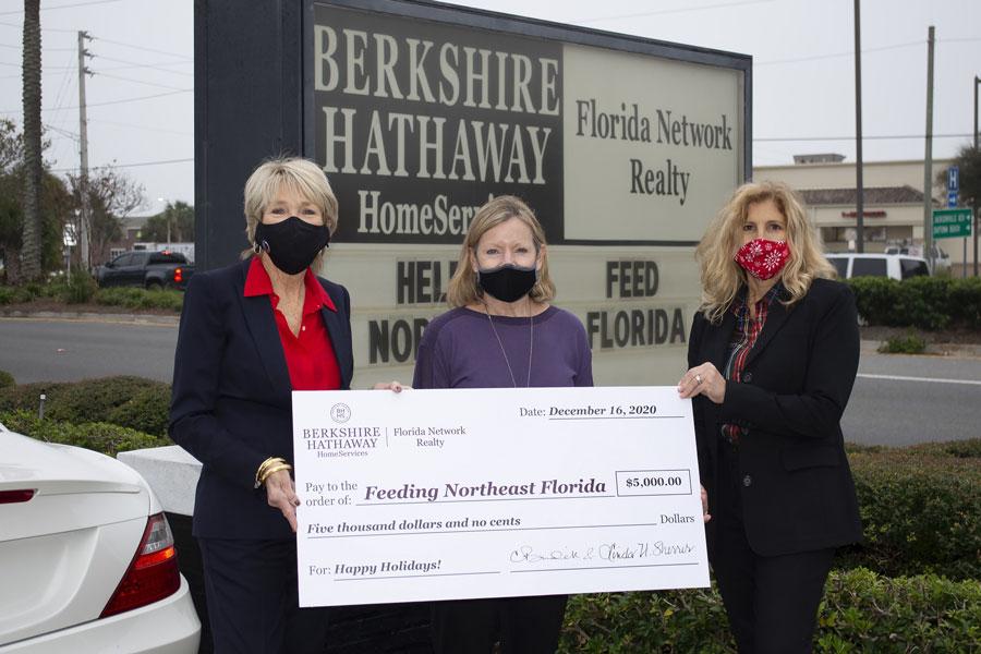 Berkshire Hathaway HomeServices Florida Network Realty Donates $5,000 to Feeding Northeast Florida