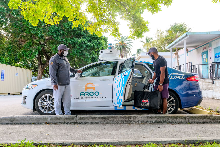 Ford and Argo AI team-up to use self-driving test vehicles to safely make contactless deliveries to distance learning students. With the help of donors like Ford, The Education Fund has provided nearly $3 million in materials and produce benefitting more than 90,415families, 60 schools and 1,500 teachers just since the pandemic hit in March 2020.
