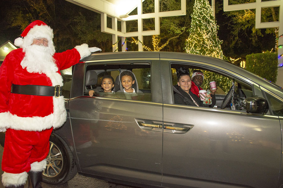 Over the weekend, Community PedsCare® celebrated patients and families with a holiday drive-thru experience where almost 100 cars were greeted with generously donated gifts, festive, lit up, outdoor holiday setting and stations to stop at along the way with hot cocoa, games and Santa.