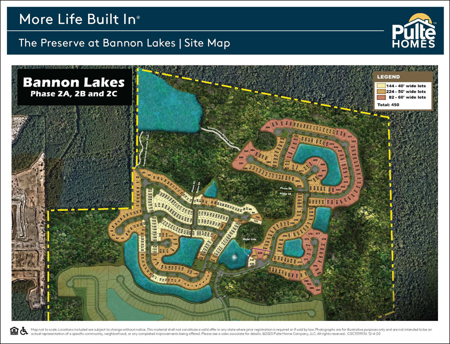 See full version of The Preserve at Bannon Lakes site map below.