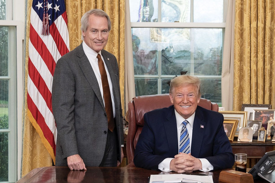 Wood with President Donald Trump in 2020. Official White House Photo by Joyce N. Boghosian