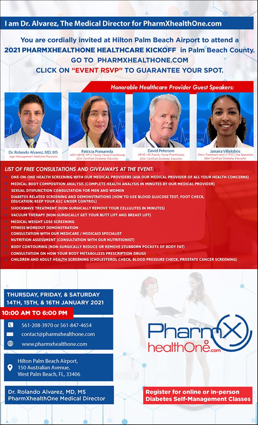 Free Wellness Luncheon Coming To Hilton West Palm Beach Airport, Jan. 14-16; One-On-One Screenings, Seca Medical Body Composition Analyzer