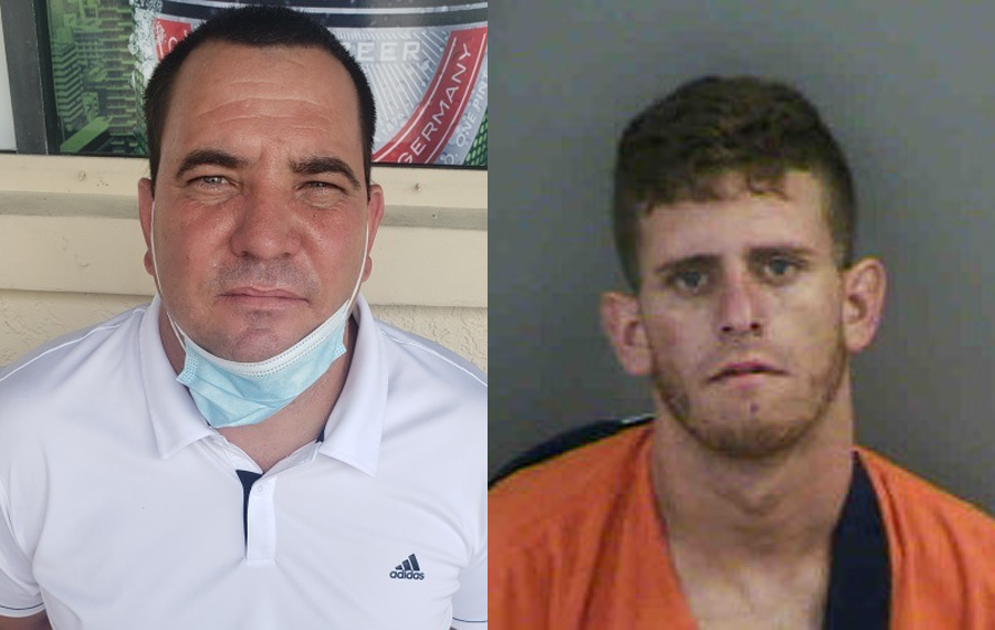 "The indictment charges Yoelvis Denis Hernandez, a/k/a Guajiro"" 42, (left) and Luis Urra Montero, a/k/a Flaco, 24, (right) with federal conspiracy, possession of stolen goods being shipped interstate, and theft of government property."