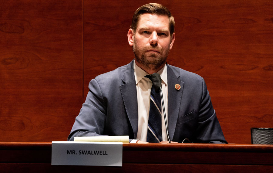Representative Eric Swalwell, who continually accused Trump of being a patsy for Russia and in the pocket of Vladimir Putin, has been accused of involvement with a female Chinese spy, whom he hired as an aide in his congressional office. Photo credit: Vasilis Asvestas / Shutterstock.com, licensed.