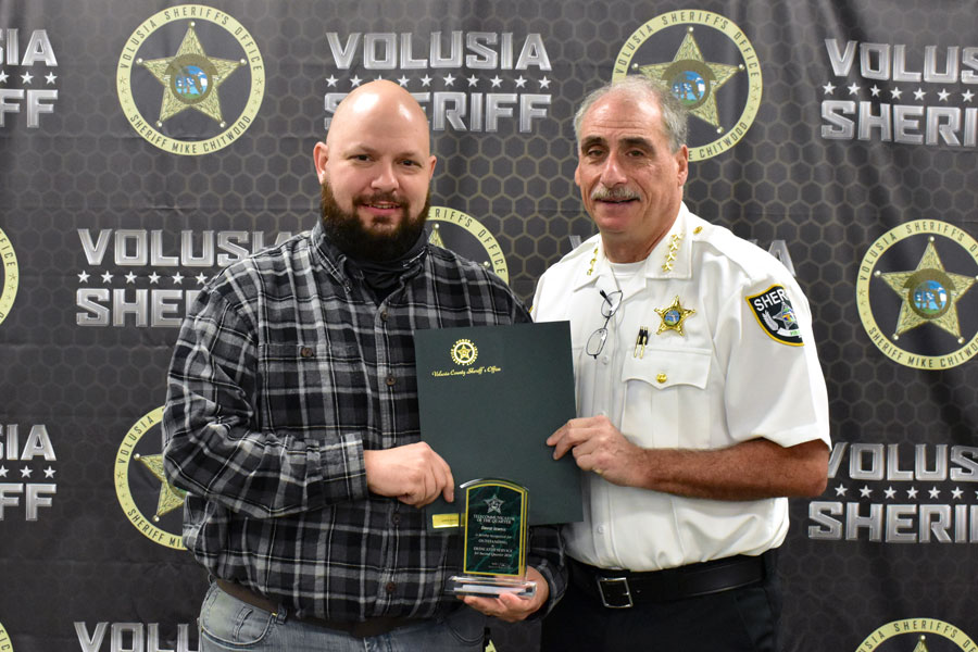 Telecommunicator of the Quarter: David Jewell was honored for his calm professionalism during a crash involving two critically injured young patients on May 19, 2020.