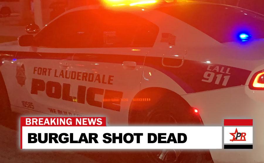 BURGLAR SHOT DEAD