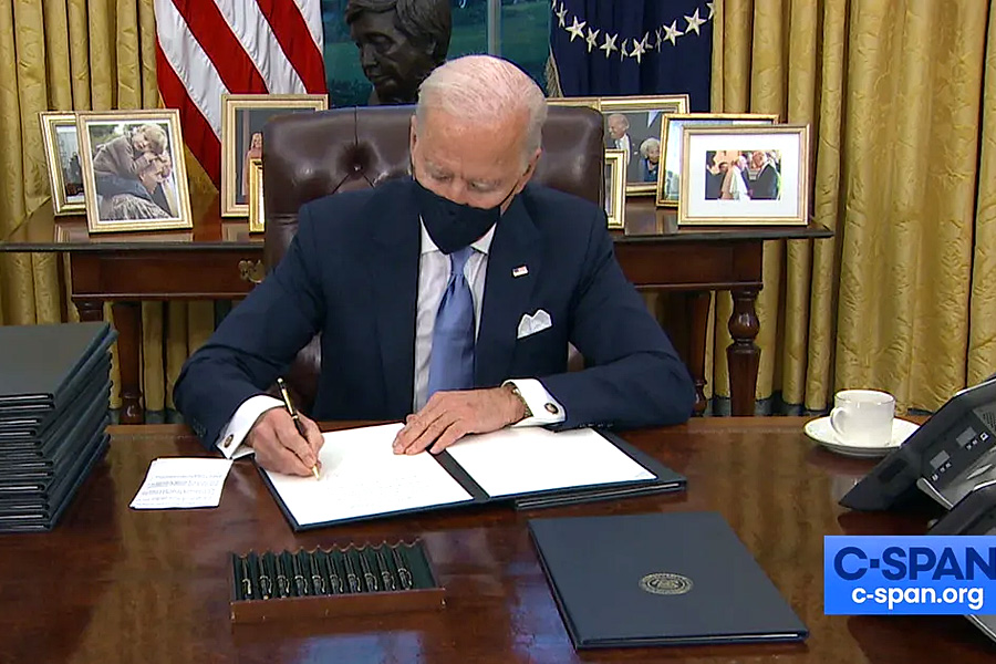 Biden Sets Modern-Day Record for Number of Executive Orders Signed in First Week