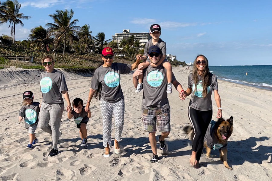 Remy Case; Francesca Case; Charlie Case; Rita Case; Ryan Case; Raquel Case and dog Enzo.