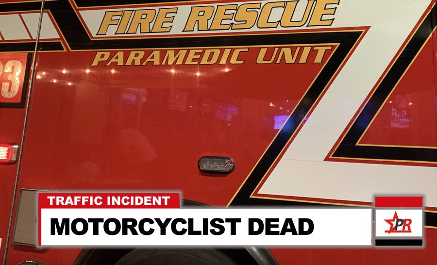 MOTORCYCLIST DEAD