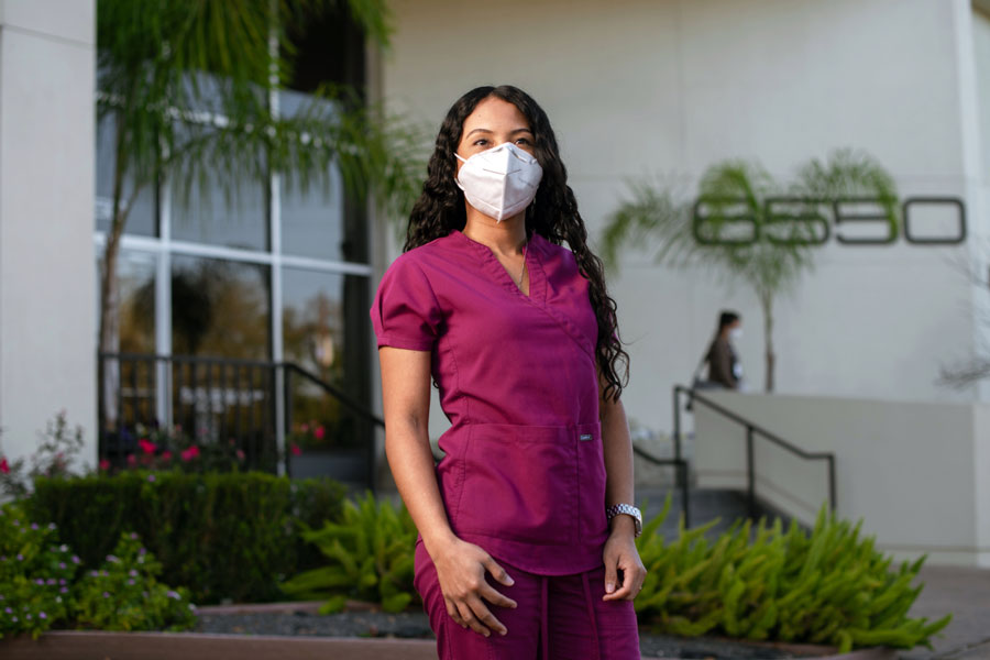 Sussy Obando graduated from six years of medical school in Colombia, and then spent a year treating patients in underserved communities. Yet when she moved to the U.S., that wasn't enough to be able to practice medicine here. Photo credit: Brandon Thibodeaux for KHN.