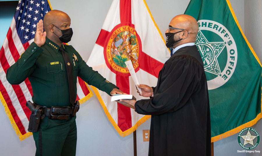 Sheriff Gregory Tony brings a wealth of experience, expertise and knowledge to the Broward Sheriff's Office cultivated from his long career serving in a variety of law enforcement and public safety capacities. Throughout his career, he has led by example and worked tirelessly to fulfill his promise to keep our communities safer.