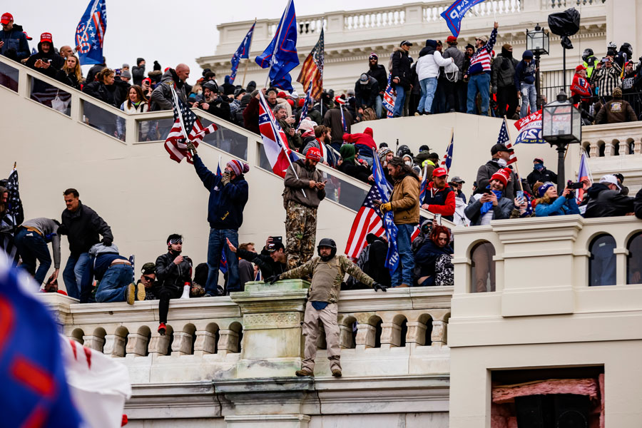 What happened at the Capitol should be condemned by all sides of the political spectrum. This same outrage for this kind of behavior is unacceptable in a democratic republic like the United States. Photo credit: Alex Gakos / Shutterstock.com, licensed.