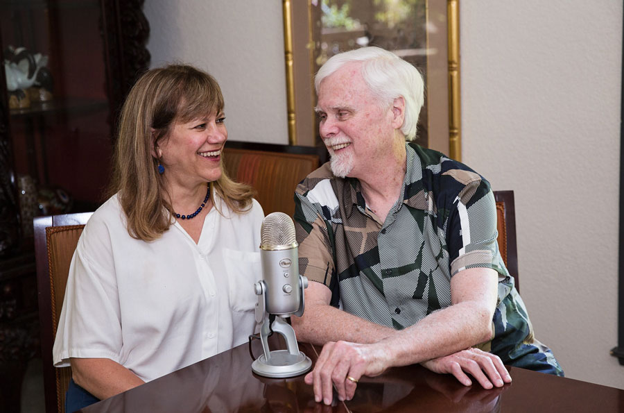 David D. Burns, M.D., Clinical Psychiatrist, Author of Feeling Good: The New Mood Therapy which has sold six million copies, and his co-host, Doctor Rhonda Barovsky Clinical Social Work, Therapist, LCSW, PsyD, on a recent Feeling Good Podcast.