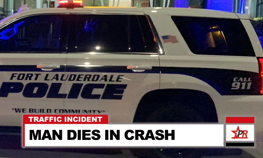 MAN DIES IN CRASH