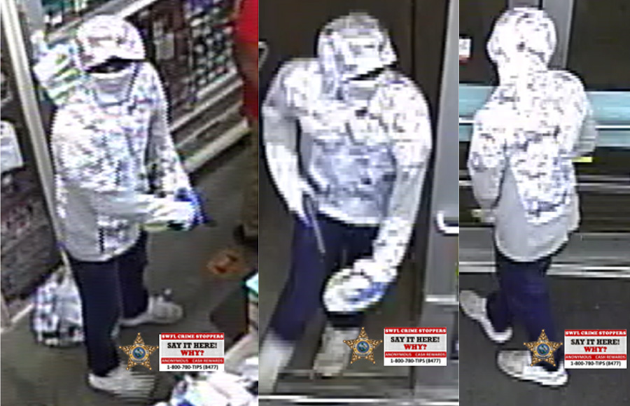 According to investigators, Saturday, January 9th, just after 8:15 p.m., a man walked into the Family Dollar Store, located at 8290 Aloha Road in Fort Myers, pointed a gun at an employee and ordered her to open up the drop box.