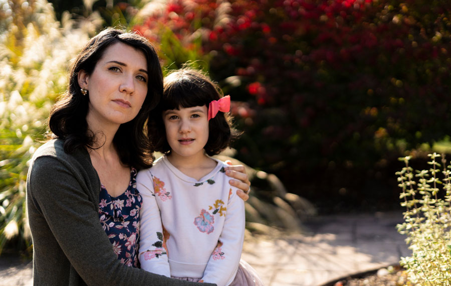Christina Fuhrman contracted a C. diff infection in 2012, and her daughter Pearl contracted one in 2015. C. diff, a bacterium causing diarrhea and colitis, is a superbug fueled by the overuse of antibiotics. Photo credit: Matthew Matlock.