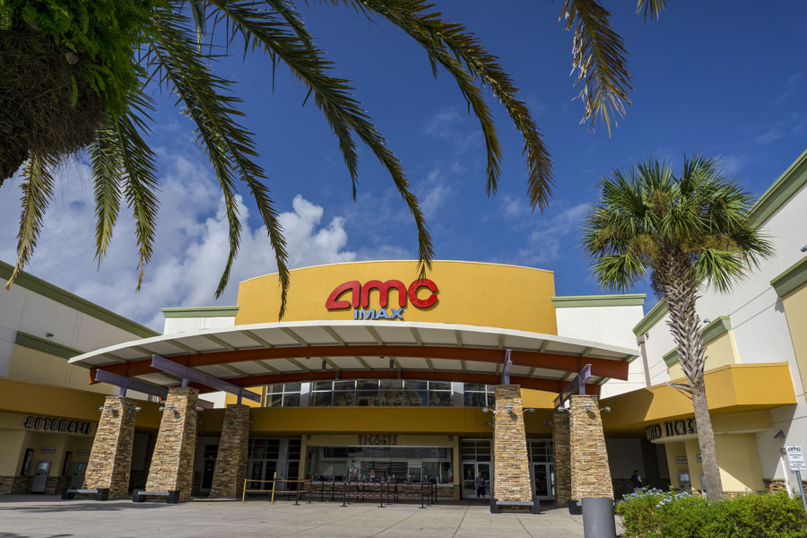 AMC theater on September 22, 2017 in Altamonte Springs, Florida. Editorial credit: Miosotis_Jade / Shutterstock.com, licensed.