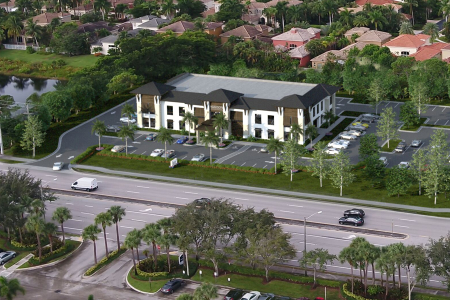 A rendering of the two-story, 24,000 square-foot, class-A medical office to be completed in summer 2021. Azure Development, a custom developer known for luxury residential homes and unique commercial properties, has leased 12,000 square feet in its new Addison Medical Centre to Tenet Florida Physician Services, a division of Tenet Healthcare Corporation.