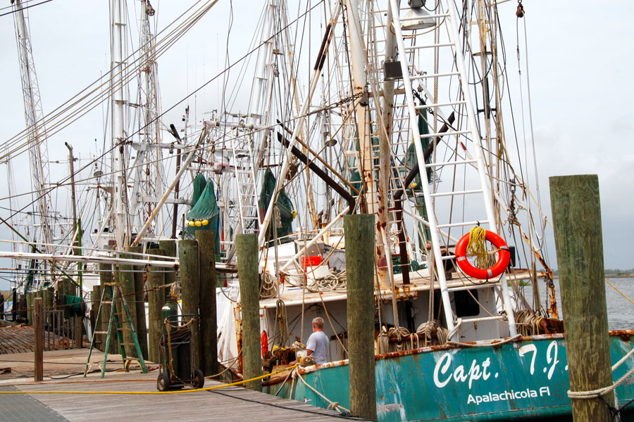 Fishing boats anchoring in fishing port in Apalachicola, Florida, March 23, 2012. Editorial credit: Michael Kaercher, Shutterstock.com, licensed.
